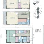 鎌ヶ谷市 中古戸建 3DK・美築・内装リフォーム済み・3階建て