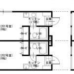【貸アパート】白井市 ハイムグリーンベル202 1K+ロフト(4.5帖)・駐車場有・リフォーム済