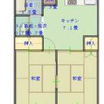 【貸アパート】第4サンハイツ102 2DK・3路線利用・日当たり良好