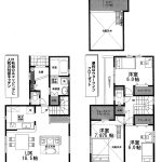 船橋 芝山6丁目 勾配天井ロフト・WIC、階段下収納など収納豊富