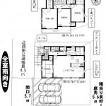 加賀5期 1号棟 土地44坪・ワイドバルコニー・シューズクローク・WIC・駐車2台