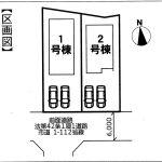印西市 木下南3期1号棟 LDK23帖・パントリー・2階各部屋にWIC収納多数あり