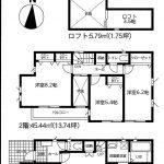 船橋  松が丘1期 4LDK+ロフト(3.5帖)・リビング階段・全居室収納付き