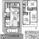 鎌ヶ谷10期 LDK16帖・収納豊富・水回り集中設計・駐車場・住宅性能評価取得