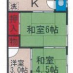 【貸アパート】桂荘101 二和向台 3K・角部屋・追い炊き機能・日当たり良好!→成約済み