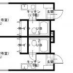 【貸アパート】白井市 ハイムグリーンベル103 1K・駐車場有・リフォーム済→成約済み