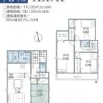 二和東3期 3号棟 全21棟の大型分譲地・WIC・住宅性能評価取得・駐車2台