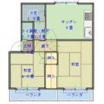【貸アパート】第5サンハイツ202 2DK・3路線利用・日当たり良好・モニター付きインターホン※お申込み有り