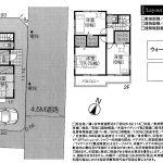 鎌ヶ谷 東道野辺18期 4LDK+WIC×3・ワイドバルコニー・南側が開けた明るい敷地